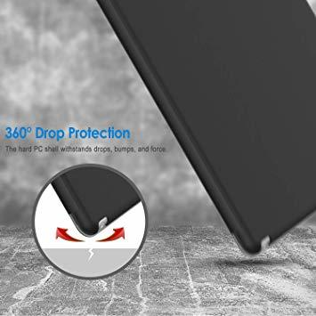 ブラック 9.7インチ JEDirect iPad Air ケース (第1世代) レザー 三つ折スタンド オートスリープ機能 ス_画像6
