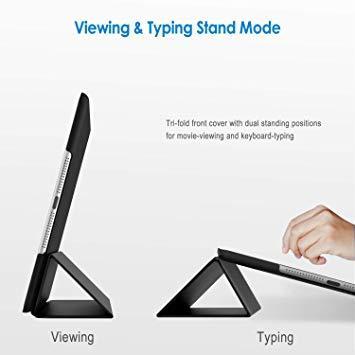 ブラック 9.7インチ JEDirect iPad Air ケース (第1世代) レザー 三つ折スタンド オートスリープ機能 ス_画像3