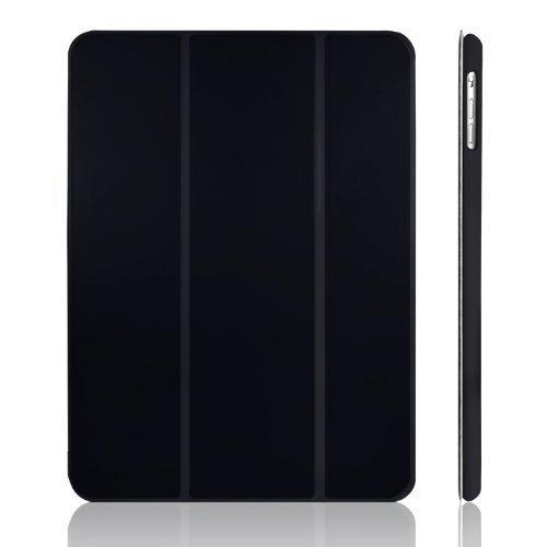 ブラック 9.7インチ JEDirect iPad Air ケース (第1世代) レザー 三つ折スタンド オートスリープ機能 ス_画像1