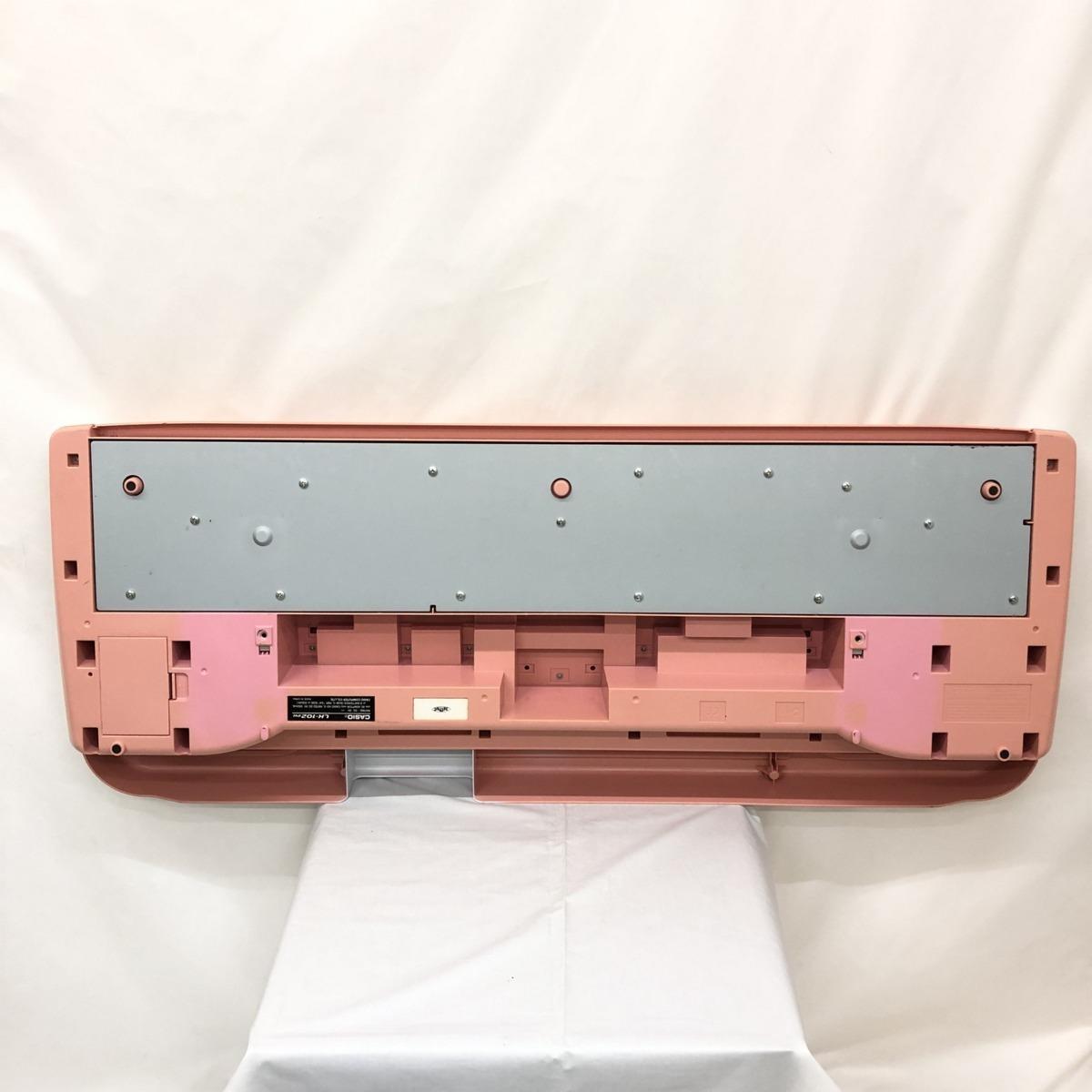 中古 CASIO カシオ 電子キーボード LK-102PK 61鍵盤 光ナビゲーション シルバー ピンク系 ポップカラー 電子ピアノ H15209_画像7
