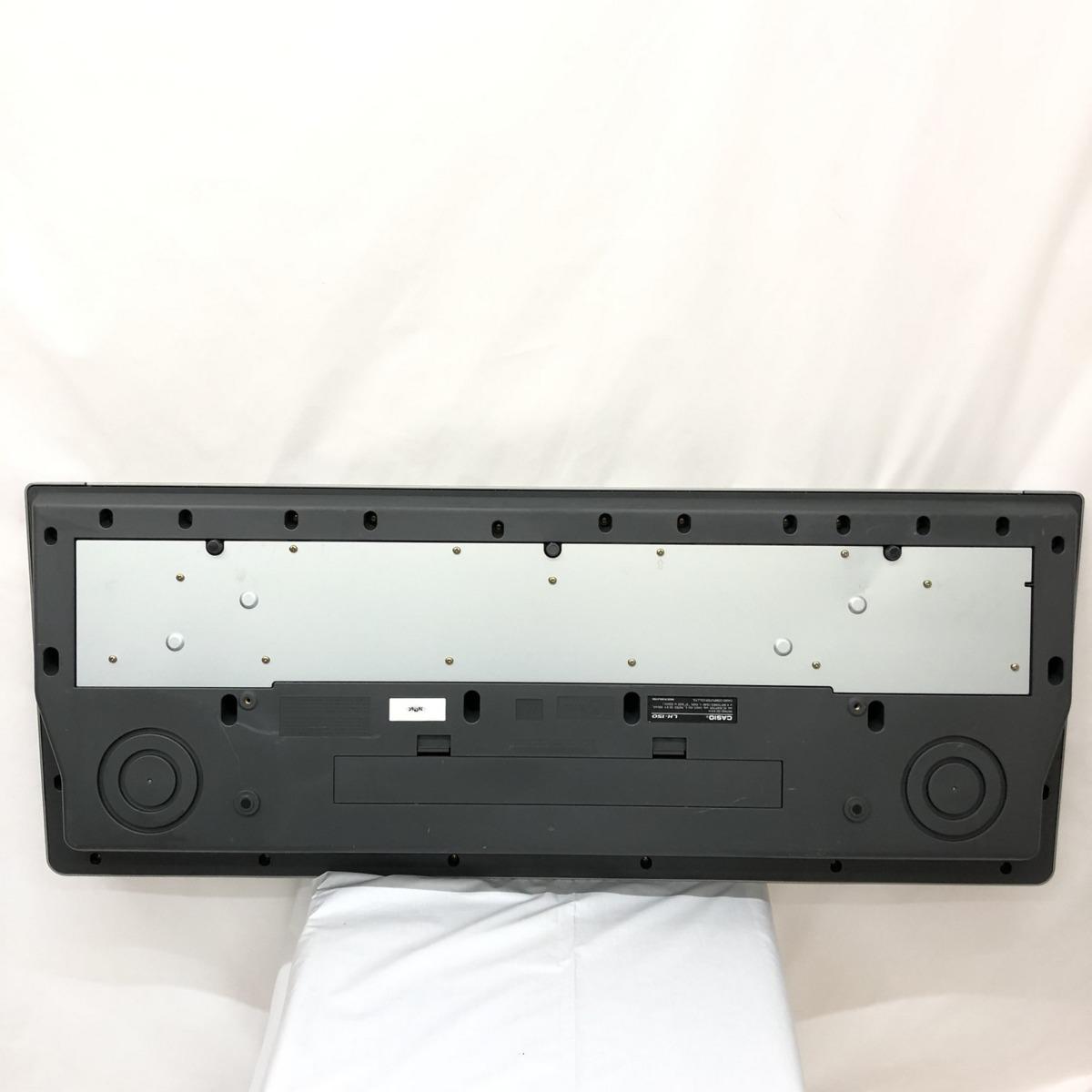 CASIO カシオ 電子キーボード LK-150 光ナビゲーション 61鍵盤 シルバー ブルー 電子ピアノ 鍵盤楽器 アダプター付き H15211_画像8