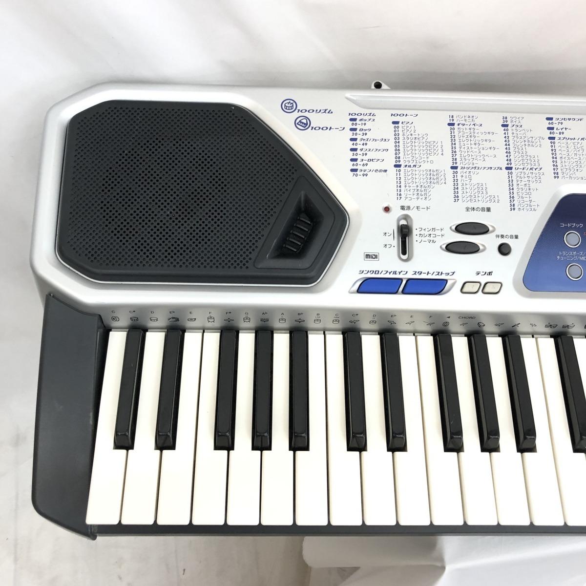 中古 CASIO カシオ 電子キーボード ベーシックキーボード CTK-481 61鍵盤 シルバー 電子ピアノ 鍵盤楽器 アダプター付き H15428_画像5