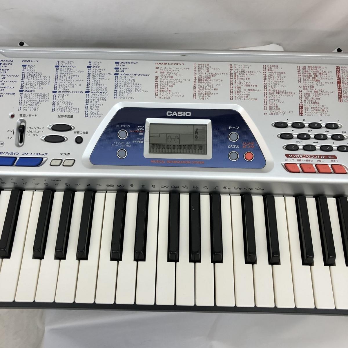 中古 CASIO カシオ 電子キーボード ベーシックキーボード CTK-481 61鍵盤 シルバー 電子ピアノ 鍵盤楽器 アダプター付き H15428_画像6