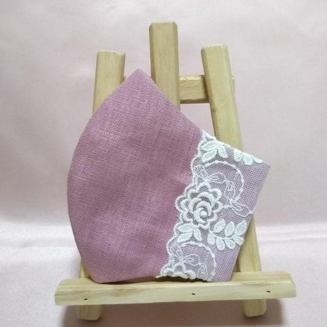 立体インナー  ハンドメイド 薔薇刺繍 チュールレース