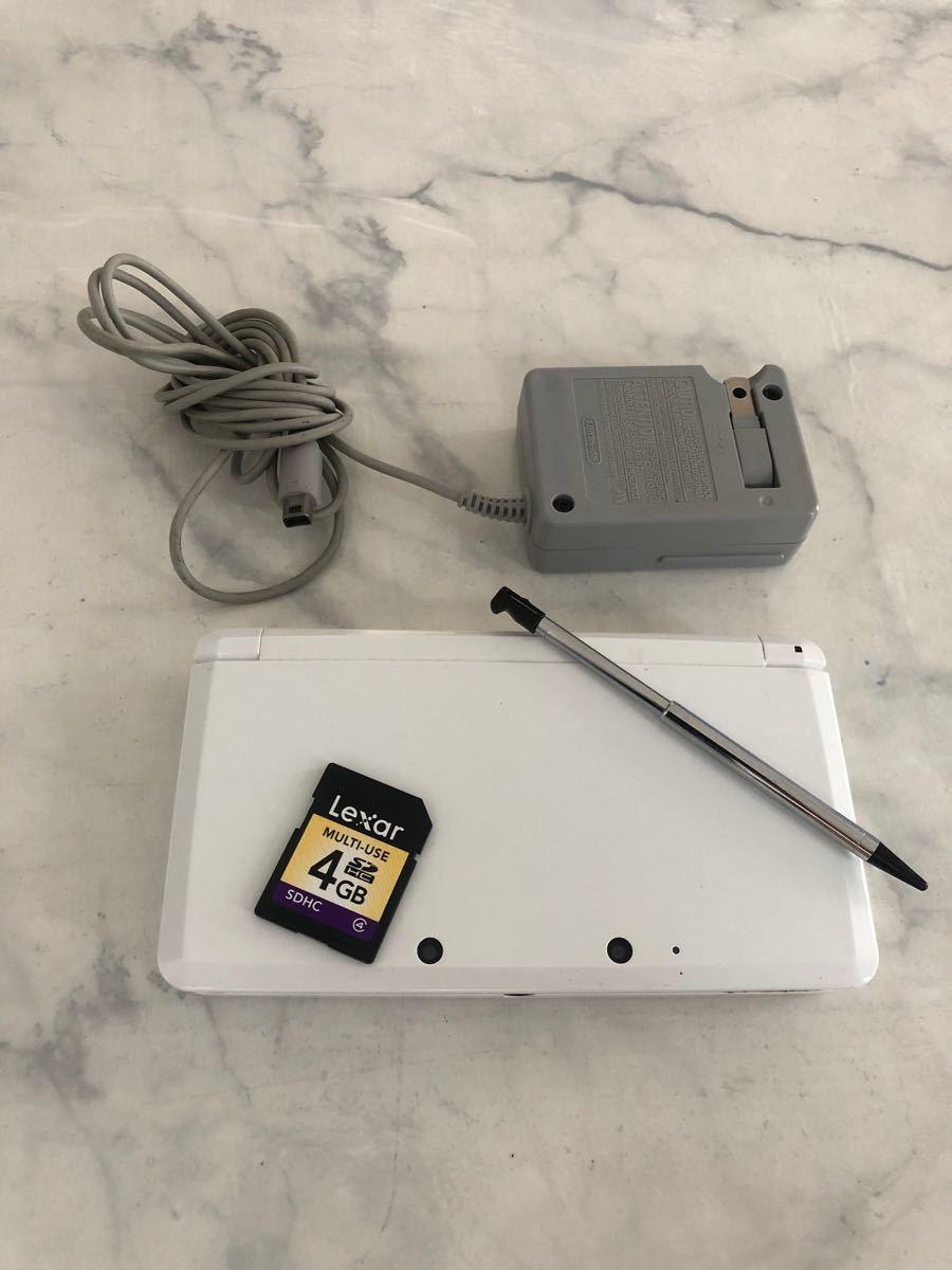任天堂 3DS  タッチペン、充電器、SDカード付き