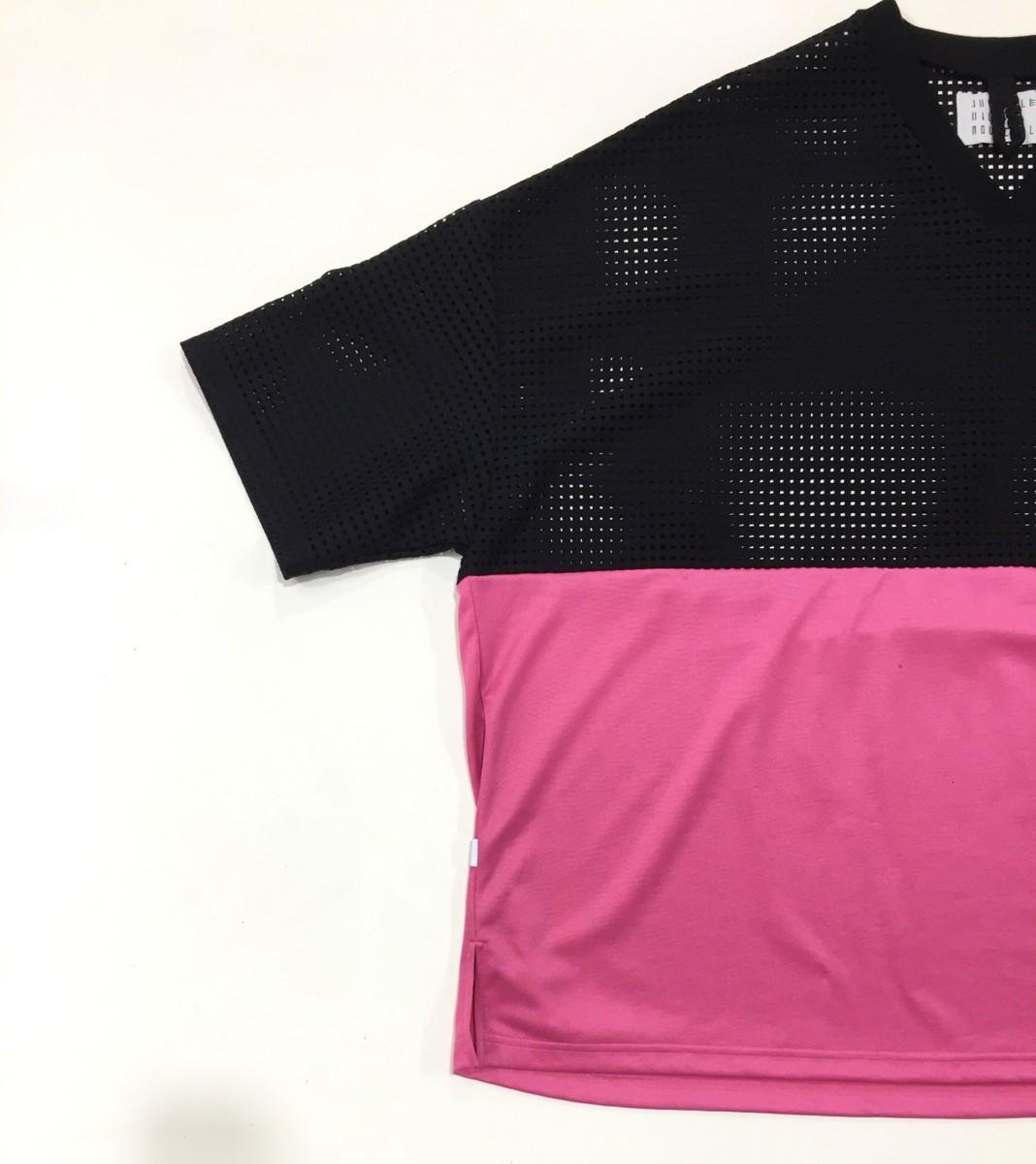 juvenile hall rollcall 1206 バイカラー メッシュ切替Tシャツ Fサイズ ジュヴェナイルホールロールコール プルオーバートップス_画像4