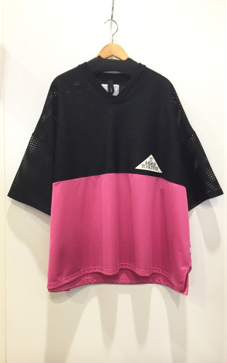 juvenile hall rollcall 1206 バイカラー メッシュ切替Tシャツ Fサイズ ジュヴェナイルホールロールコール プルオーバートップス_画像1