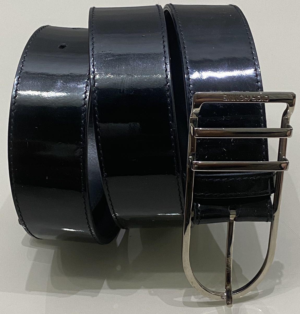 正規品 ディオールオム dior homme パテント レザー ベルト 85 黒_画像2