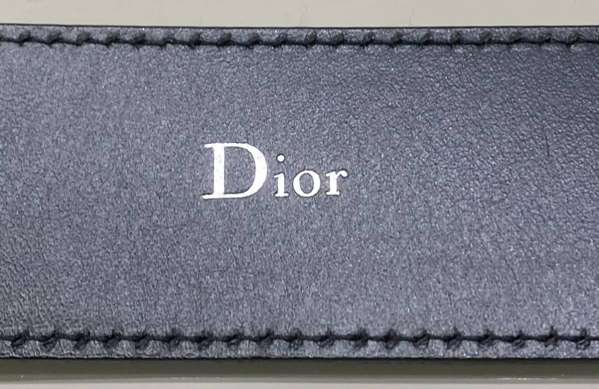 正規品 ディオールオム dior homme パテント レザー ベルト 85 黒_画像6