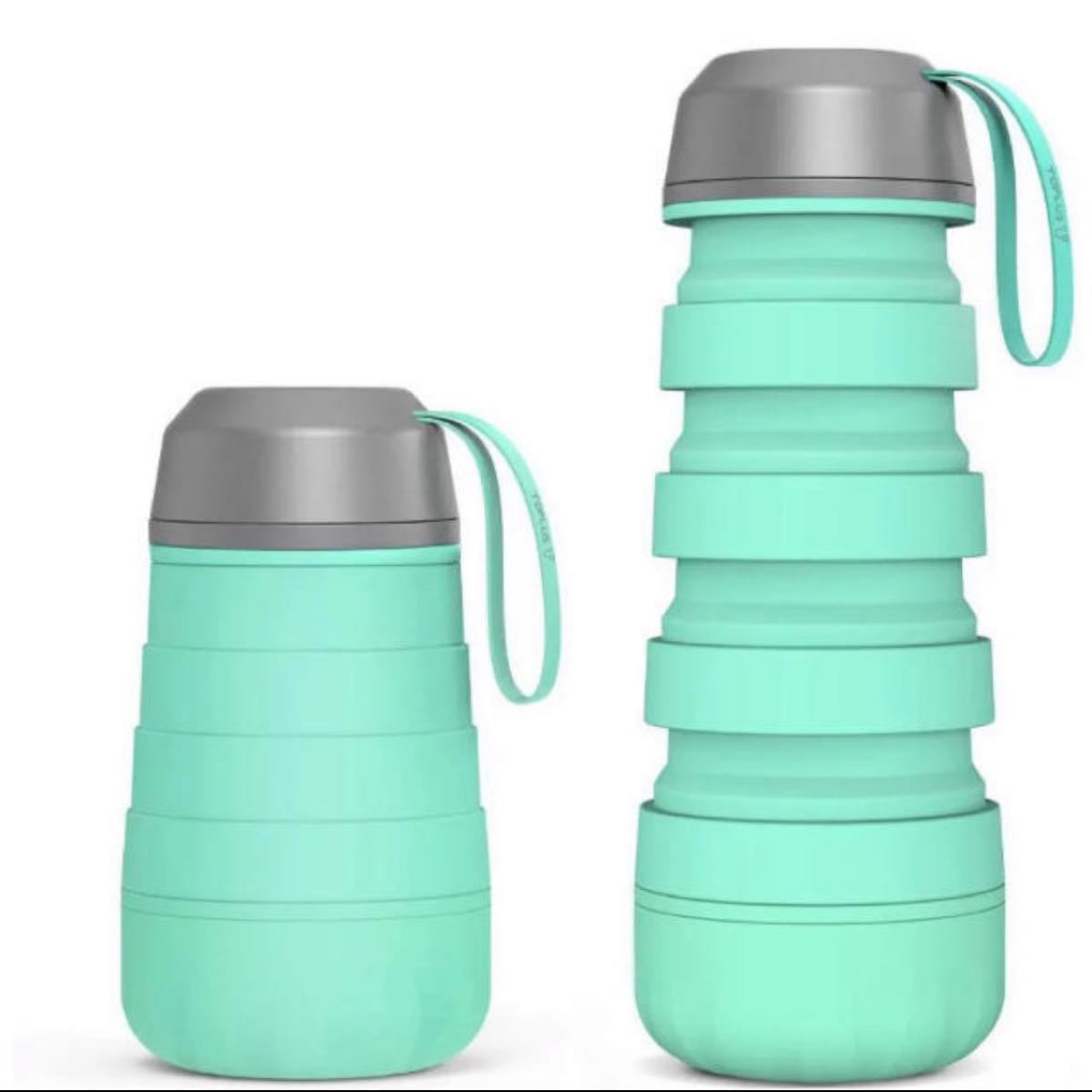 スポーツボトル 折りたたみ水筒 400ml