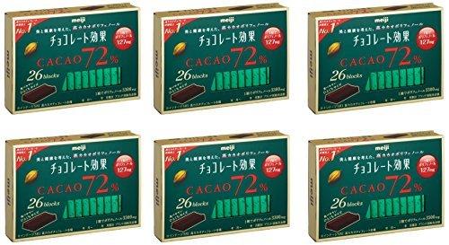 明治 チョコレート効果カカオ72% 26枚入り×6個_画像6