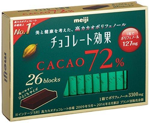 明治 チョコレート効果カカオ72% 26枚入り×6個_画像1