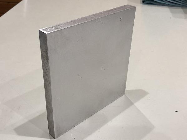アルミ合金 アルミ板 A5083 端材 150×156mm 厚15mm  【送料 スマートレター180円】_画像3
