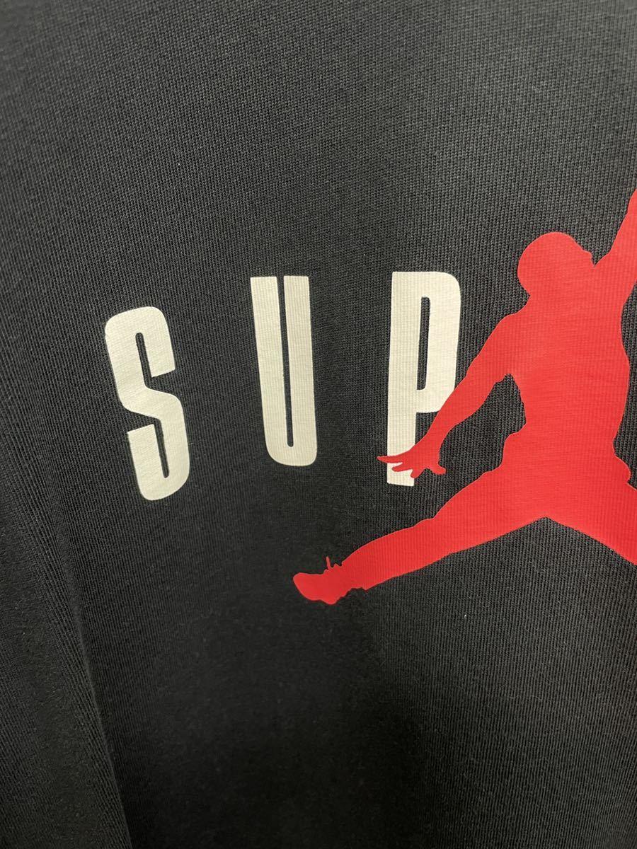 M 15AW supreme Jordan tee ジョーダン Tシャツ  T-shirt 黒 ブラック_画像2