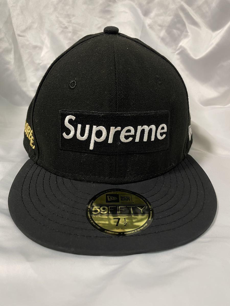 7 1/2 Supreme 14AW Gore-Tex New Era シュプリーム ゴアテックス ニューエラ ブラック BLACK cap キャップ_画像1
