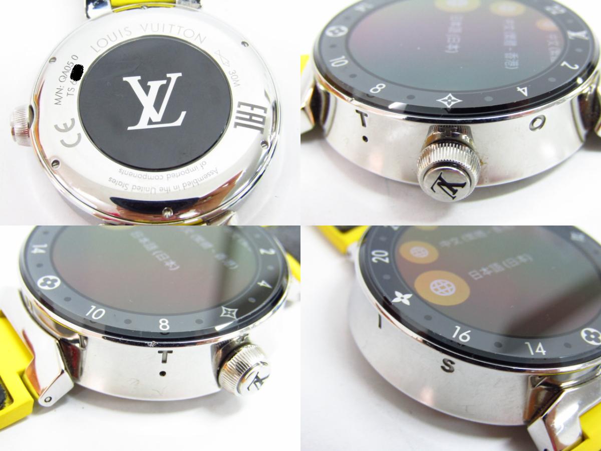LOUIS VUITTON ルイ・ヴィトン タンブール ホライゾン スマートウォッチ V2 QA050 ラバーベルト メンズ♪SB3854_画像6