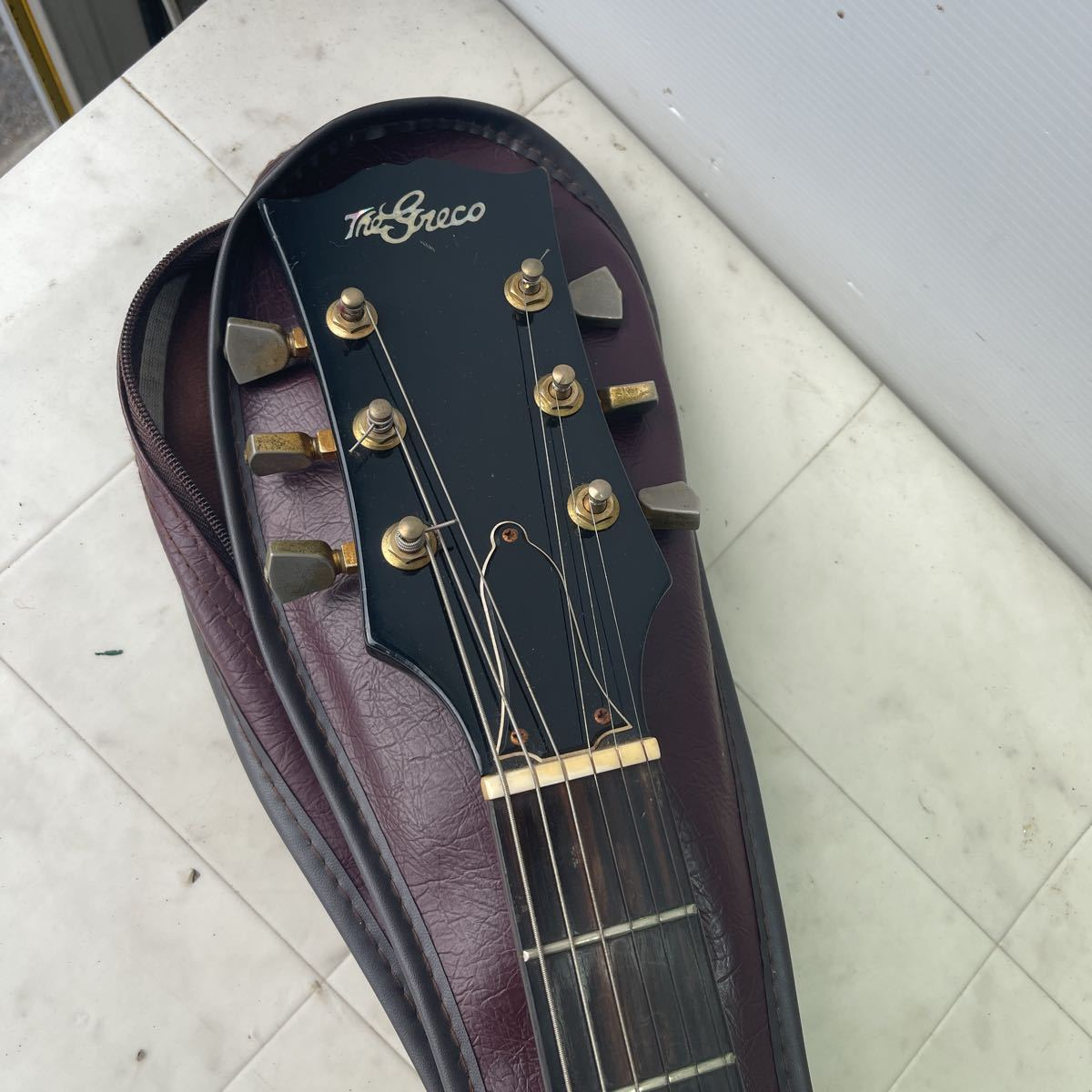 THE GRECO グレコ エレキギター ソフトケース 【ジャンク】_画像2