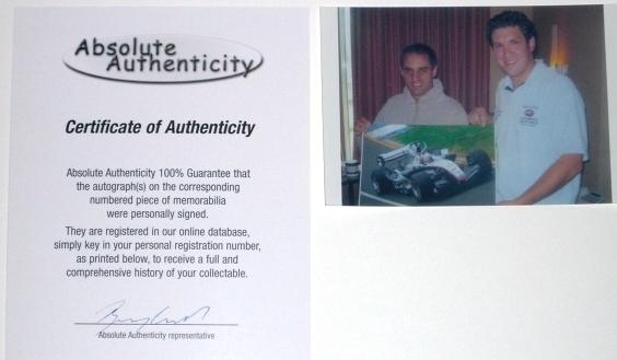 ☆2005年オーストラリアGP モントーヤ 直筆サイン付生写真【RP】_画像3