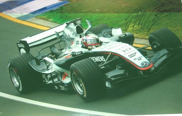 ☆2005年オーストラリアGP モントーヤ 直筆サイン付生写真【RP】_画像1