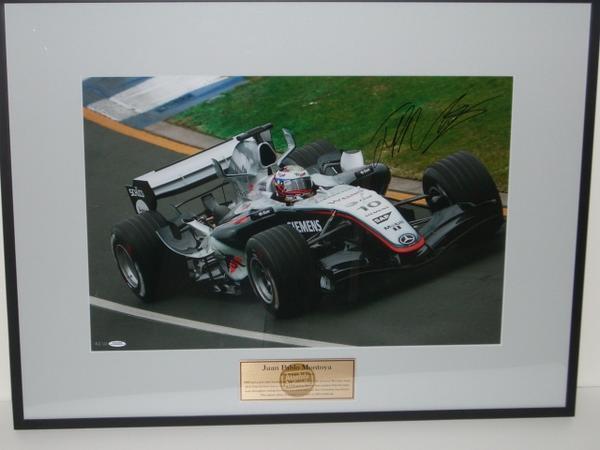 ☆2005年オーストラリアGP モントーヤ 直筆サイン付生写真【RP】_画像2
