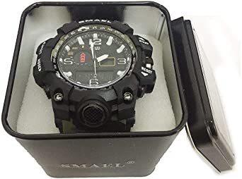 新品グリーン SMAEL ミリタリー 迷彩風 アナデジ 腕時計 メンズ 男性 アラーム クロノグラフ 多機能 スポーZC1Q_画像8