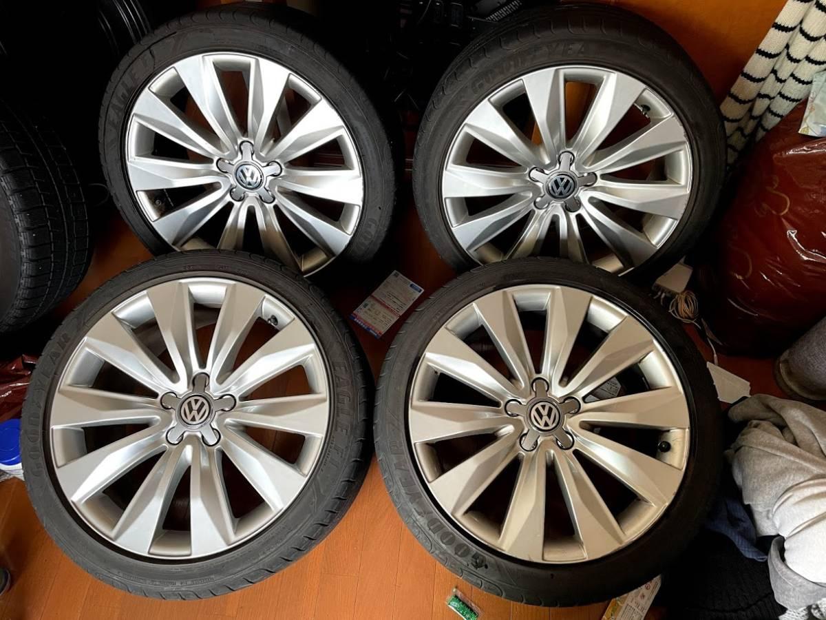アウディ A8 純正ホイール 18インチ 8.5J+45 PCD112 φ57 4本 EAGLE F1 235/40R18 センターキャップ新品 VW シロッコ パサート ゴルフ等に!