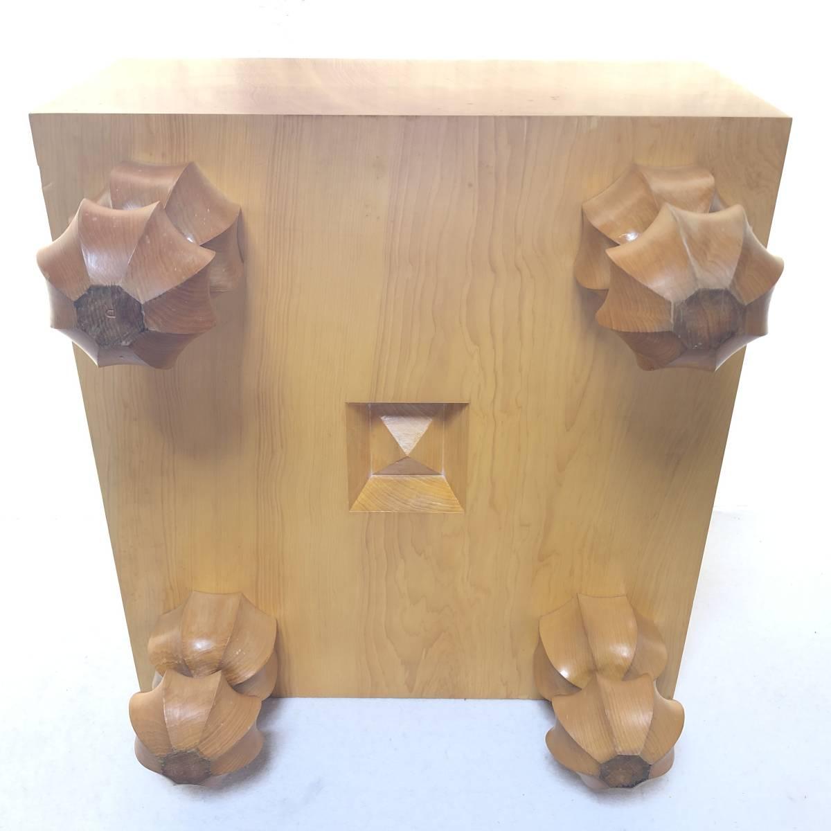 囲碁道具 碁盤 天然木 天柾 厚さ19cm 6寸2分 約21kg