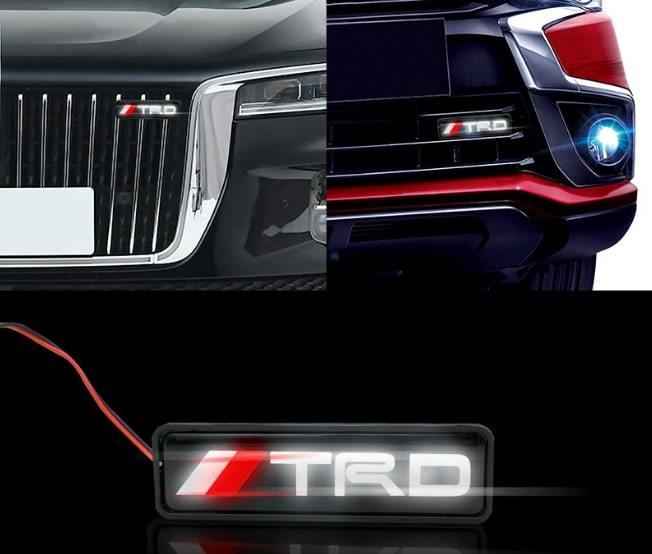 簡単取り付け トヨタ 光るTRDエンブレム フリントグリル用 LED_画像1