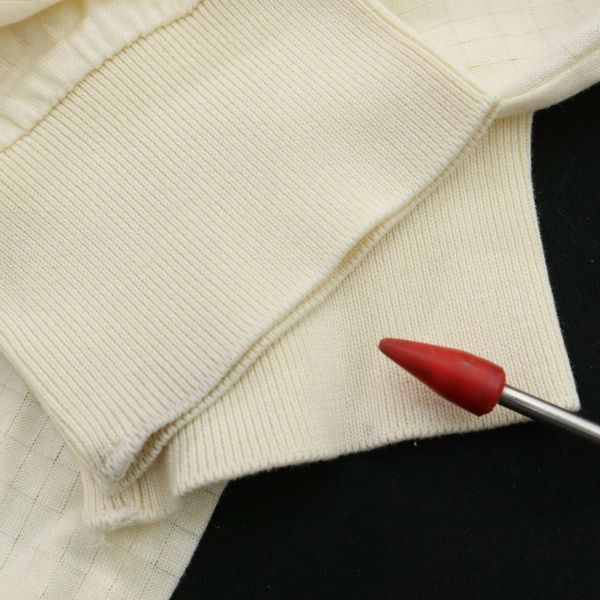 DAKS ダックス 通年 長袖 ロゴ刺繍 薄手★チェック使い ストレッチ ポロシャツ Sz.LB メンズ 日本製 ゴルフ C1T04147_6#C_画像9