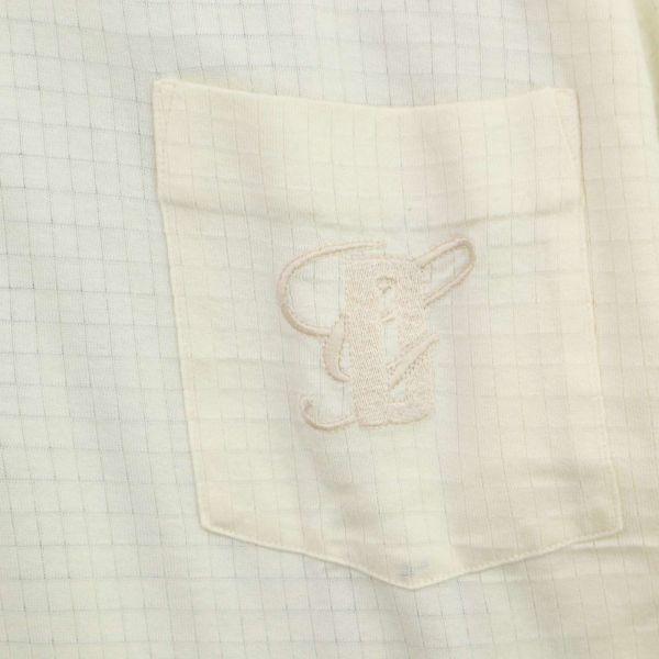 DAKS ダックス 通年 長袖 ロゴ刺繍 薄手★チェック使い ストレッチ ポロシャツ Sz.LB メンズ 日本製 ゴルフ C1T04147_6#C_画像3