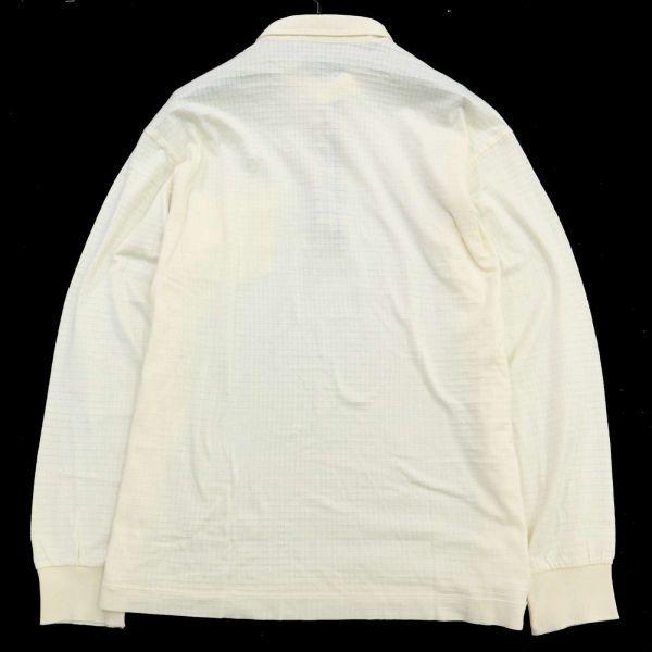 DAKS ダックス 通年 長袖 ロゴ刺繍 薄手★チェック使い ストレッチ ポロシャツ Sz.LB メンズ 日本製 ゴルフ C1T04147_6#C_画像5