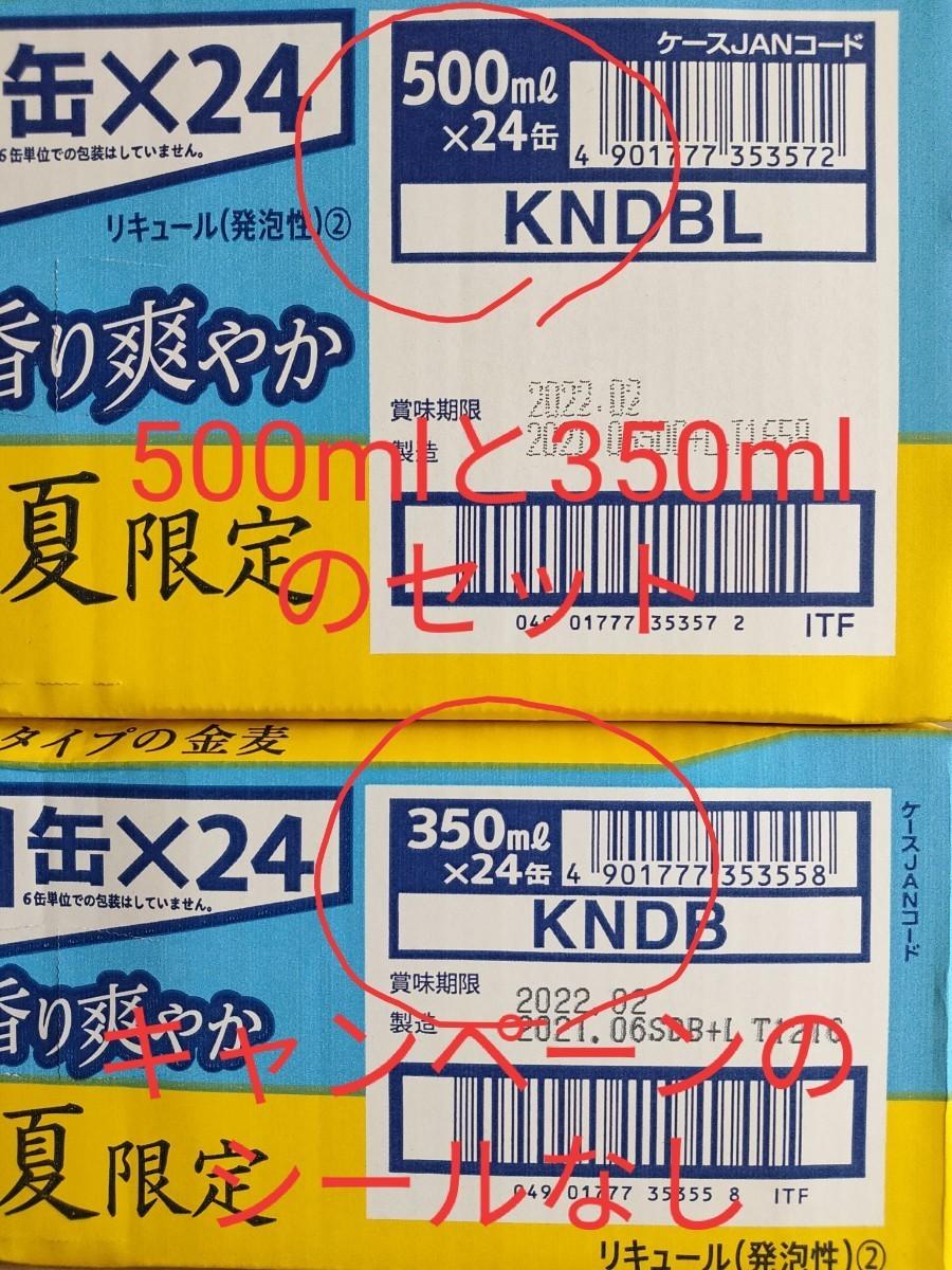 2021夏限定 エールタイプの金麦  香り爽やか 350ml24本、500ml24本セット その2