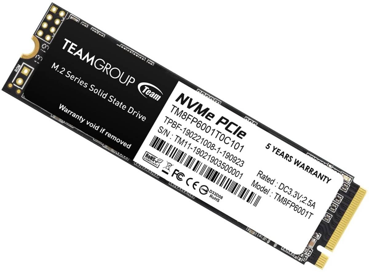 新品 Team M.2 2280 NVMe SSD PCIe Gen3x4 MP33