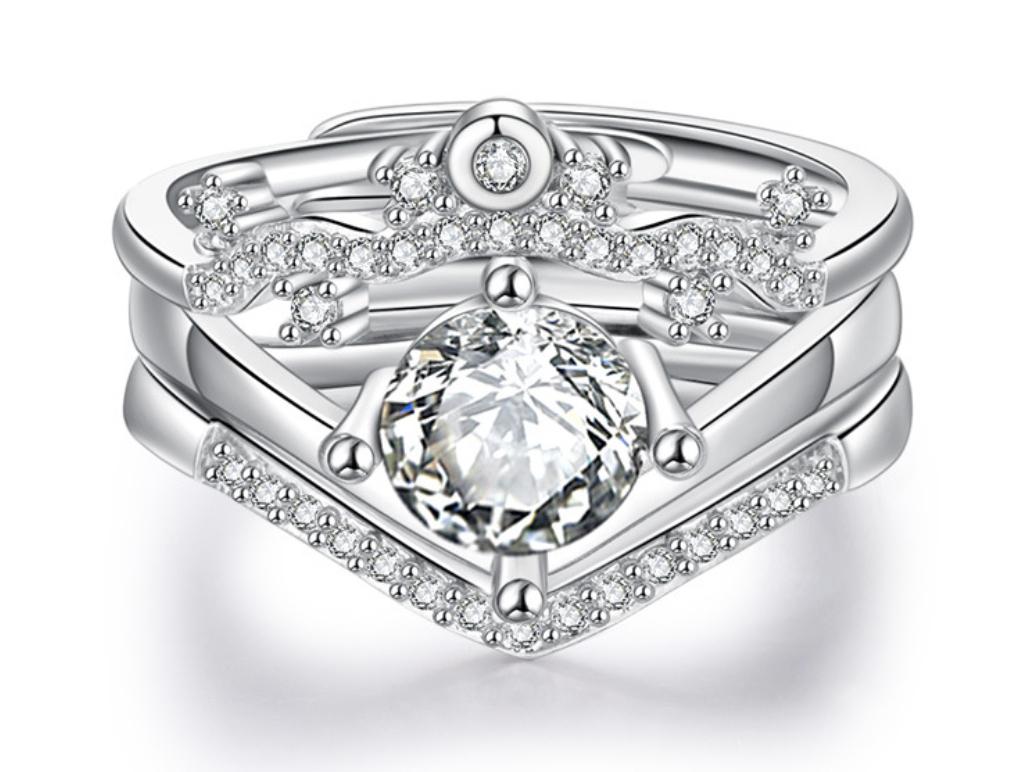 最高最上級カラー 2ct 37石 超大粒 三層 レディース ダイヤリング指輪【プラチナ仕上】注目 新品 贈答品 価格高騰中