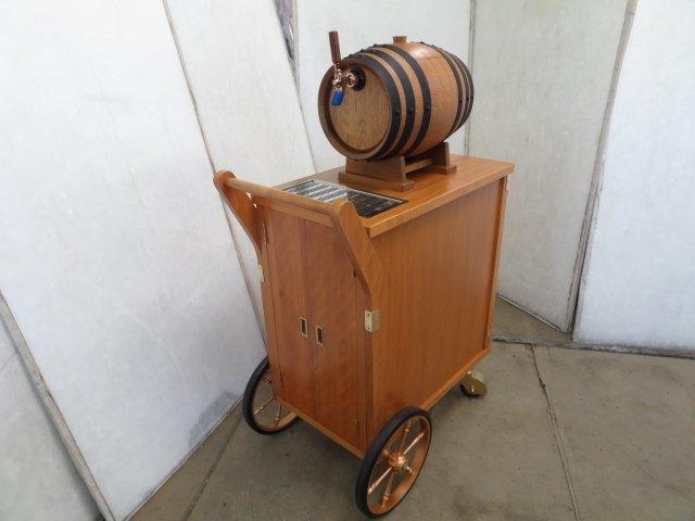 ▼ニットク 樽式移動ワゴン ビールサーバー ディスペンサー[0529DT]7BY!_画像1