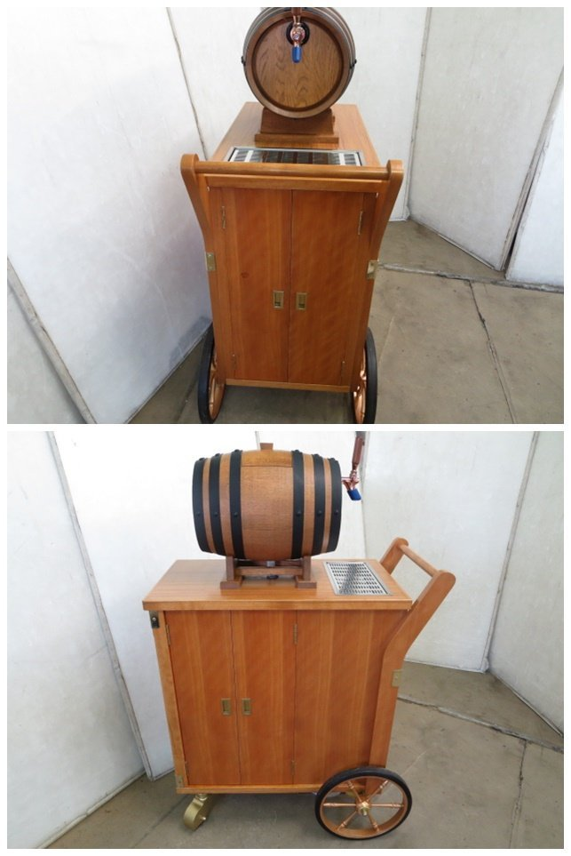 ▼ニットク 樽式移動ワゴン ビールサーバー ディスペンサー[0529DT]7BY!_画像2