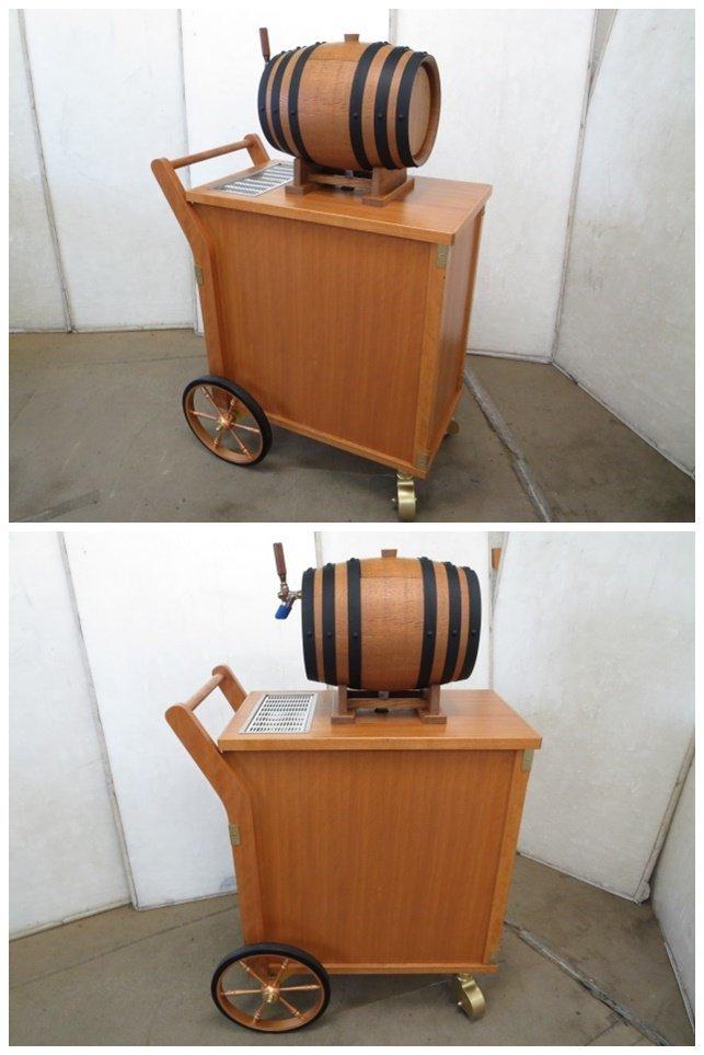 ▼ニットク 樽式移動ワゴン ビールサーバー ディスペンサー[0529DT]7BY!_画像5