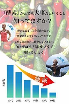 1個単品 酵素 サプリ DearEat( ダイエット ) サプリメント 【 生酵素 &酵母 &麹 】_画像3