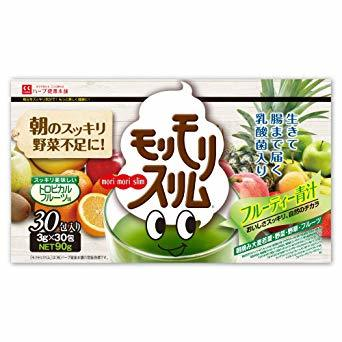 90g(3g×30包) ハーブ健康本舗 モリモリスリムフルーティー青汁 3g&30包 トロピカルフルーツ味 九州産 _画像1