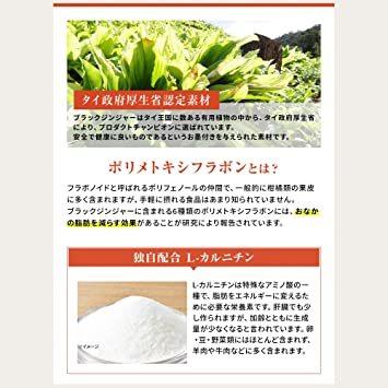メタプラス ウエスト(お徳用 31日分 通販専用パッケージ)お腹の脂肪を減らす(機能性表示食品)ブラックジン_画像6