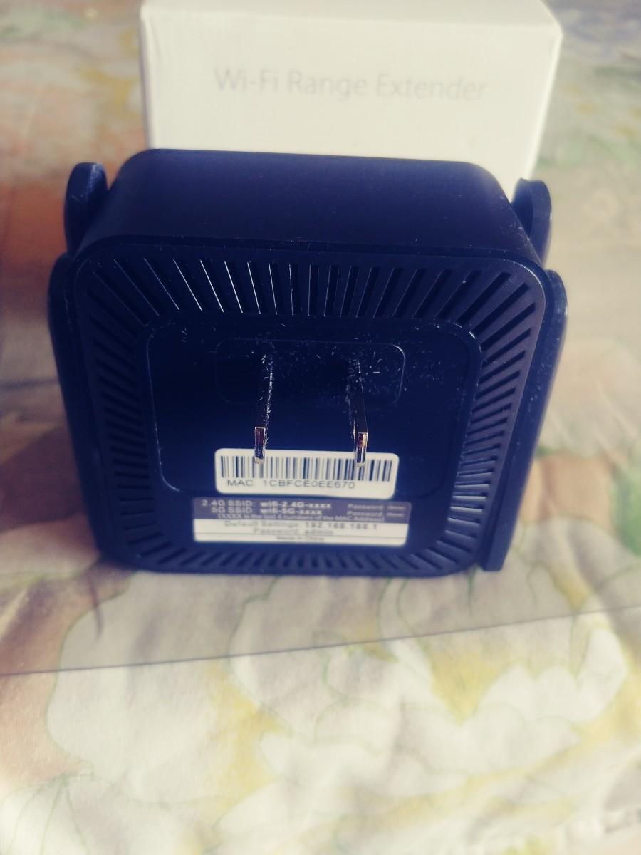 Aigital WIFI無線LAN中継器, 1200Mbps Wi-Fi 中継機, 5G/867Mbps +2.4G/300Mb