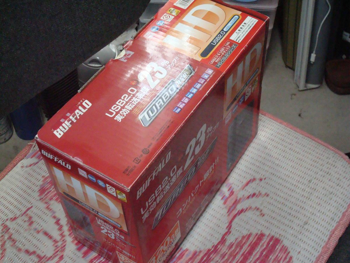 BUFFALO 320GB USB2.0 USB1.1接続 HDドライブ HD-CS320U2 掘り出し未使用品 送料無料