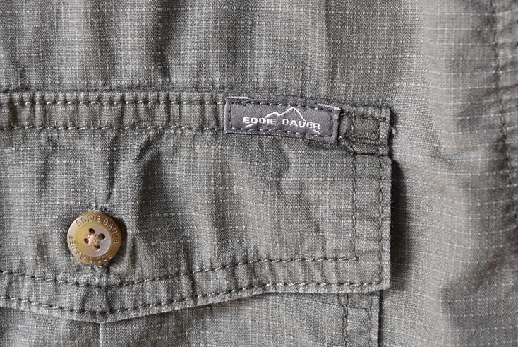 【送料無料】エディーバウアー アウトドア 半袖シャツ BDシャツ コットン EDDIE BAUER USA アメリカ古着 メンズL CB0472