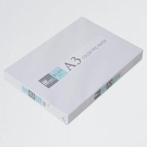 新品 目玉 カラ-コピ-用紙 APP U-V0 紙厚0.09mm 500枚 A3 ブル-_画像1