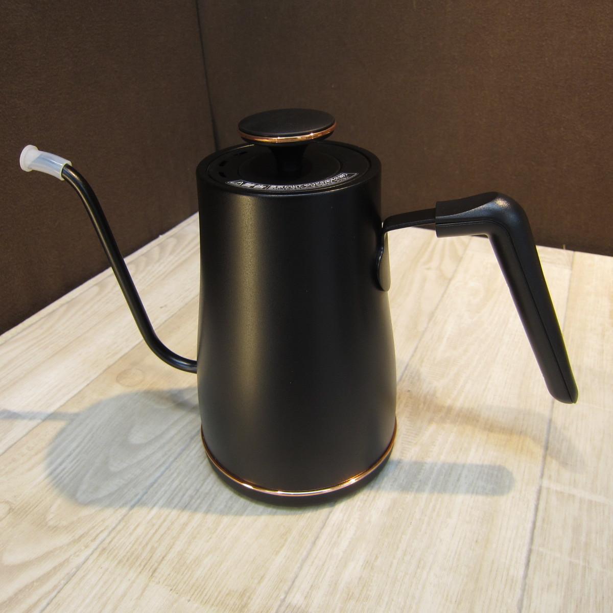 S6230【未使用】[山善] 電気ケトル 電気ポット 0.8L (消費電力 1200W / 温度設定/保温/空焚き防止) ブラックブロンズ EGL-C1280(BB)