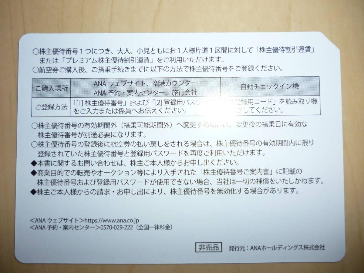 ANA (全日空) 株主優待券(1枚) ~2021/11/30(延長後) 番号通知のみ_画像2