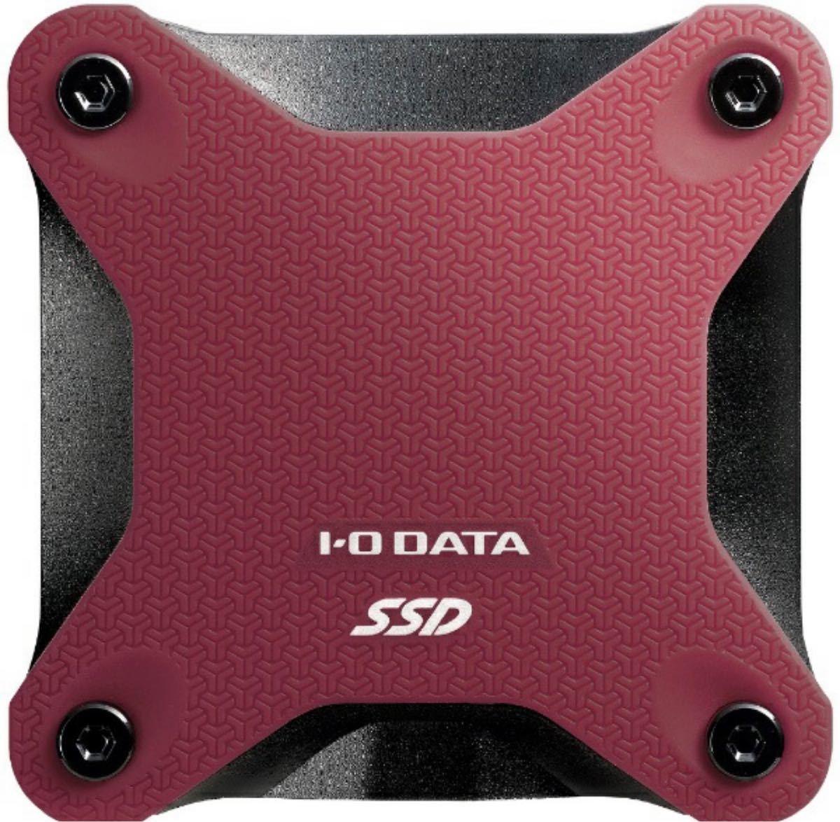 【新品未開封】外付けSSD I-O DATA アイ・オー・データ SSD ワインレッド  500GB USB3.1