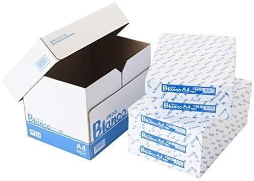 新品サイズA4 コピー用紙 A4 ホワイトコピー用紙 高白色 紙厚0.09mm 2500枚(500*5) ブランコGXBC_画像1