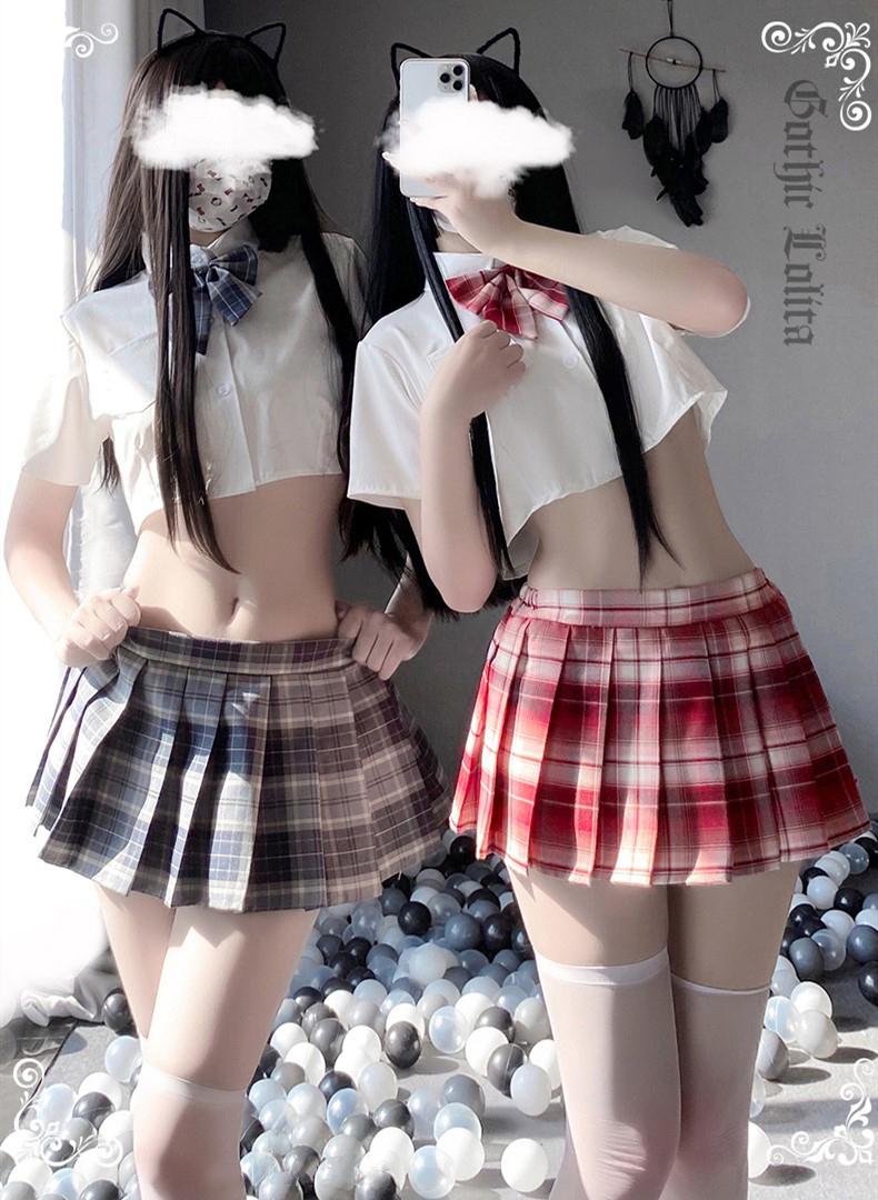 超セクシー可愛い セーラー服 学生服 コスプレ 女子高生 制服 トップス&スカート RT439/レッド_画像6