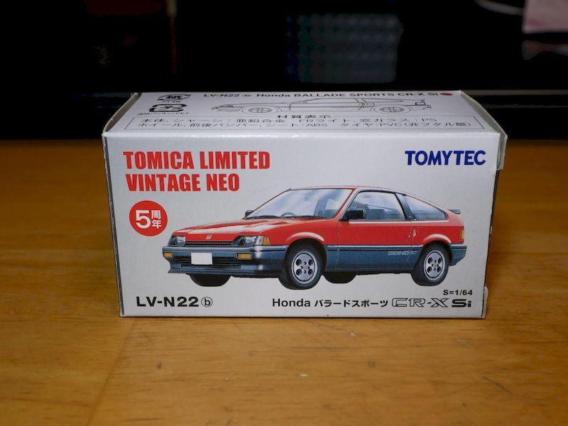 トミカリミテッドヴィンテージネオ★LV-N22b Honda バラードスポーツ CR-X Si トミーテック